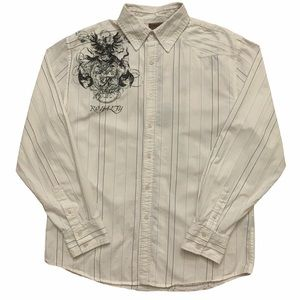 Roar Long Sleeve Shirt Embroidered White XL